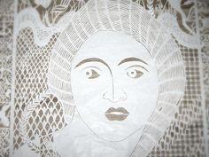 karen-bit-vejle Danish papercut artist-face