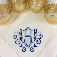 Did lots of napkins this week and it was hard to pick a favorite but this one may be at the top of my list! Monogram Shirts, Embroidery Monogram, Monogram Styles, Monogram Fonts, Monogram Letters, Embroidery Applique, Machine Embroidery, Cool Fonts, Fun Fonts