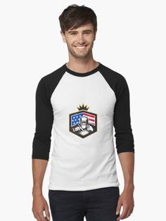 Welder Arc Welding USA Flag Crest Retro by patrimonio