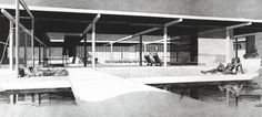 Paul Rudolph 1947 - The Goar Residence, Sarasota FL. Designed with Ralph Twitchell.  Unbuilt.