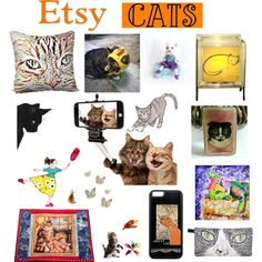 ETSY Cats by belladonnasjoy on Polyvore featuring Del Gatto, Hostess and modern