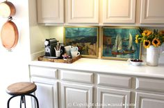 This is more or less what I hope to establish in my kitchen. Not a proper coffee station; just a coffee corner.