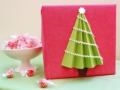 Cute Paper Christmas Tree gift wrap
