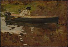 William Merritt Chase (American, 1849–1916). Mrs. Chase in Prospect Park, 1886. The Metropolitan Museum of Art, New York. Gift of Chester Dale, 1963 (63.138.2) #newyork #nyc