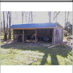 Open air tractor shed barns of north carolina pinterest for Tractor garage plans