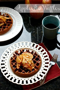 Apple Pie Waffles with a Cider Syrup @Alaina {Fabtastic Eats}