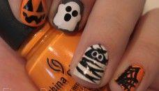 halloween nail polish design