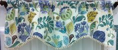 "Harmony Cornice Valance in Periwinkle also available in Sherbet. 50""w @ $59.99. To Order Call toll-free 877-722-1100"