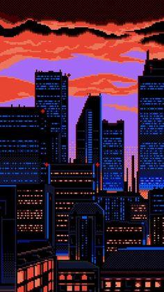 gif gifs pixel art pixel pixels art gif 16 bit 8 bit bit pixel gif bits pixel art gif 32 bit bit art bits-and-pixels New Retro Wave, Retro Waves, Aesthetic Art, Aesthetic Anime, Psychedelic Art, Pixel Art Gif, Pixel City, Vaporwave Wallpaper, 8 Bit Art