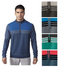 EBAY: *3 Colors Left, S-2XL*  Was $80, NOW $26.95 + Ships FREE!  Adidas ClimaCool Colorblock 1/4 Zip Pullover Layering Top  SAVE $53: http://ebay.to/2ohC4uc  #ad