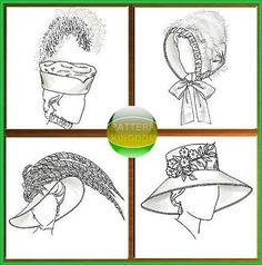 Historical Victorian Period Hat Patterns 4 Styles Butterick 4697