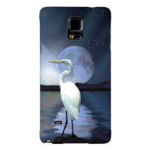 Great White Egret, Moon and Water Wildlife Art 3 Galaxy Note 4 Case (scheduled via http://www.tailwindapp.com?utm_source=pinterest&utm_medium=twpin&utm_content=post124610369&utm_campaign=scheduler_attribution)