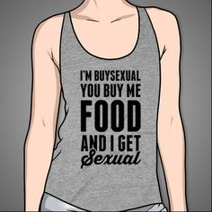 I'm BuySexual #buy #food #drink #sexual #humor #fun #funny #gray #tank #top #clothing #clothes #apparel #tee #shirt #tshirt #pizza #cats #women #men #racerback #girly #style #fashion #girls #guys #gals #dudes #bisexual #pride #money