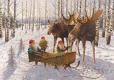 Gnomes invented sleigh riding by feeding goranges, stuffed with hot peppers to mopey moose, then wrapped their sleigh rope on the horns and held on tight.