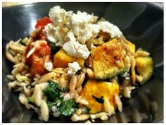 Grilled Zucchini Orzo with Goat Cheese