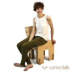 SILLA DE CARTON de cartonlab, cardboard ecofriendly designs on FairChanges. Chair.