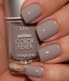 petite nail polish | Petites Color Fever in Vintage Gray - $3.99 at Rite Aid