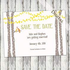 Hey, I found this really awesome Etsy listing at http://www.etsy.com/listing/151206221/save-the-date-birch-tree-with-love-birds