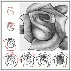 How to draw A Beautiful Rose? so easy ! :)  Details -->http://wonderfuldiy.com/wonderful-idea-for-drawing-a-beautiful-rose/