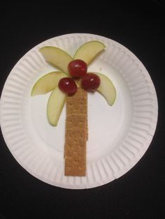 Chicka Chicka Boom Boom snack we made today in the preschool! Read the book (for the umpteenth time) as the kiddos munched their coconut trees!
