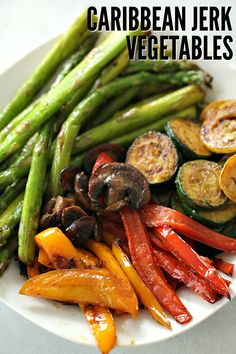 Grilled Caribbean Jerk Vegetables on Tone-and-Tighten.com - the best grilled veggies ever! #grilling #vegetables #sidedish Best Grilled Chicken Recipe, Grilled Vegetable Recipes, Lime Chicken Recipes, Grilled Vegetables, Healthy Menu Plan, Good Healthy Recipes, Healthy Meal Prep, Healthy Foods, Healthy Dinners