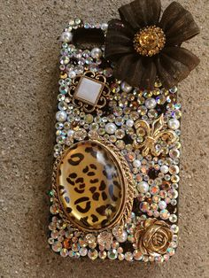 Cheetah Bow Bling Case iPhone 4s by moodlicious on Etsy, $100.00 --I LOOOVVEEE THIS!--