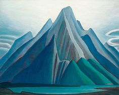 Mountain on the Athabasca River (Mountain sketch XCI) by Lawren Harris, Group of Seven Tom Thomson, Group Of Seven Artists, Group Of Seven Paintings, Emily Carr, Mountain Sketch, Mountain Art, Green Mountain, Canadian Painters, Canadian Artists