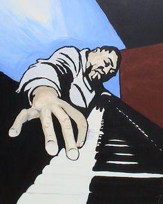 Feeling Blue (Jazz Piano) (1/3) Painting at ArtistRising.com