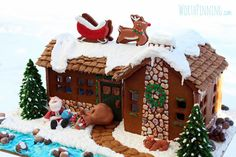 "Worth Pinning: ""Up on the Rooftop"" Gingerbread House"