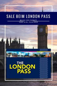 Bis zu 20% Rabatt auf den London Pass. April Sale vom 15.04. - 18.04.2018