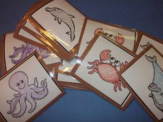 Lesson # 11 Im thankful for fish: Under the Sea memory game. A fun game to teach about the different sea animals that were created. Under The Sea Games, Under The Sea Theme, Under The Sea Party, Ocean Lesson Plans, Toddler Teacher, Ocean Unit, Sea Crafts, Kids Crafts, Mermaid Under The Sea
