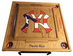 Amazon.com : New York Yankee Domino Table with Puerto Rico Flag : Everything Else