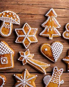 Make Ice Cream, Homemade Ice Cream, Christmas Cooking, Beignets, Gingerbread Cookies, Biscuits, Caramel, Food And Drink, Xmas