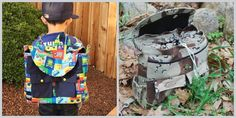 Looseleaf Knapsack PDF Sewing Pattern from MommaQuailPatterns