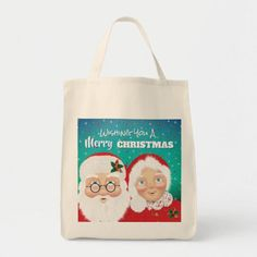 Santa and Mrs Claus Christmas Tote Bag #geek #health #fitness bbc wife, husband and wife, firefighter wife, dried orange slices, yule decorations, scandinavian christmas Bbc Wife, Dried Orange Slices, Mrs Claus, Mothers Day Shirts, Yule Decorations, Scandinavian Christmas, Design Your Own, Natural Materials, Firefighter