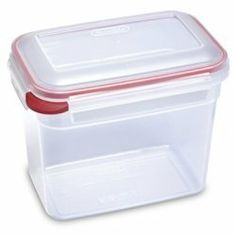 12.5 Cup Ultra Latch Rectangular Locking Container by Sterilite. $4.29. Ideal for leftovers, snacks, dry foods, and more. Allows you to see what's inside quickly and easily. Freezer, microwave and dishwasher safe. Containers stack neatly in use and nest efficiently in storage. Domed locking lid with air-tight leak-proof silicone gasket seals. Ultra+Latch Latching Food Storage Containers are ideal for everyday food storage needs, providing solutions for leftovers, snacks, dry fo...
