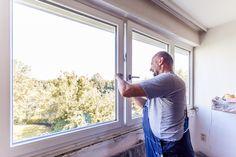Montage der Fenstergriffe