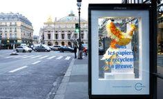 Anúncio interativo revela lindo resultado de reciclagem de papel