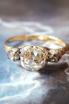 Simply timeless. This antique engagement ring will stand the test of time.