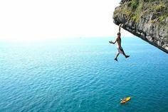 Climbing in Thailand.