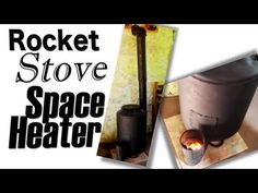 Rocket Stove Space Heater for Superadobe Earthbag House Construction (superadobe)