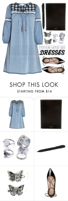 """""""Easy Peasy: Throw-and-Go Dresses"""" by rasa-j ❤ liked on Polyvore featuring Ulla Johnson, Kate Spade, Moleskine, Carole, womenfashion, easypeasy and summer2016"""