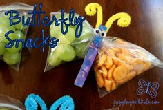 healthy halloween snacks | Juggling With Kids: Butterfly Snacks