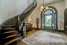 1857 Historic Italianate Camden Farm For Sale In Port Royal Virginia Port Royal, Plantation Homes, Stairway To Heaven, Victorian Homes, Victorian Interiors, French Interiors, Vintage Interiors, Real Estate Companies, Maine House