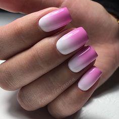 Images of pink ombre nails images - Pink Ombre Nails, Glitter Nails, Gel Nails, Nail Polish, Manicures, Chic Nail Art, Chic Nails, Bobs, Nailart