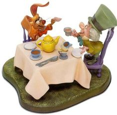 """*THE MARCH HARE & THE MAD HATTER ~ Alice in Wonderland....""""A Very Merry Unbirthday"""""""