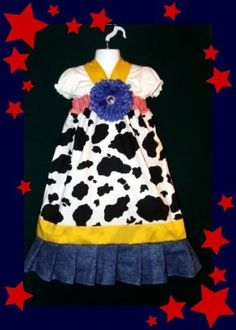 Toy Story Jessie Halter Dress 7-8 Girls NEW Custom Boutique & Matching Hair Bow -for sale now on ebay! Trip to disney idea. $8.00 SEARCH EBAY FOR ITEM NUMBER 190847224119 Also great for Toy Story Birthday idea.