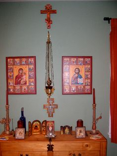 Christian Orthodox home altar