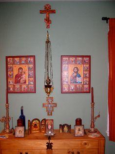 Christian Orthodox home altar