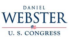 Classic Logo (works because he's an older candidate) with a great Americana Feel | Daniel Webster for Congress
